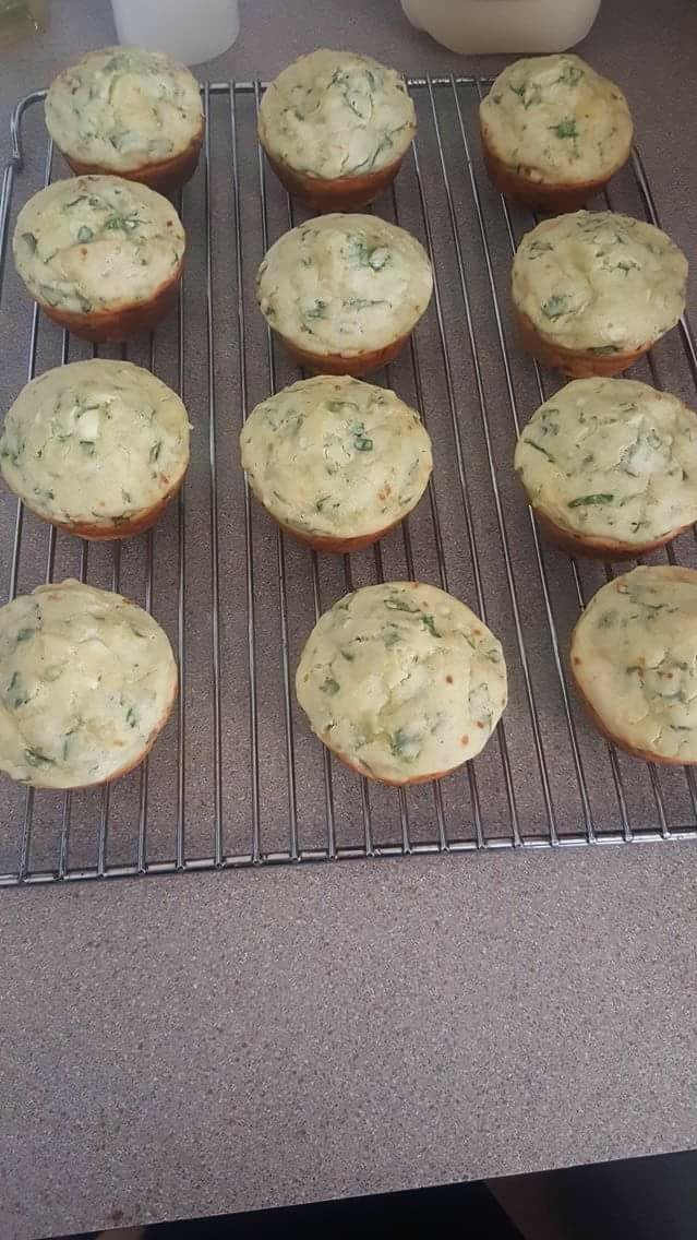 Gluten Free Self Raising Flour Spinach and Feta Muffins